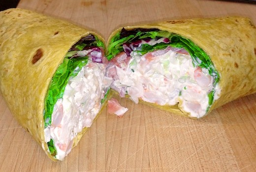 Shrimp Salad Wrap Ravage Deli Voted Best Deli By Baltimore Magazine