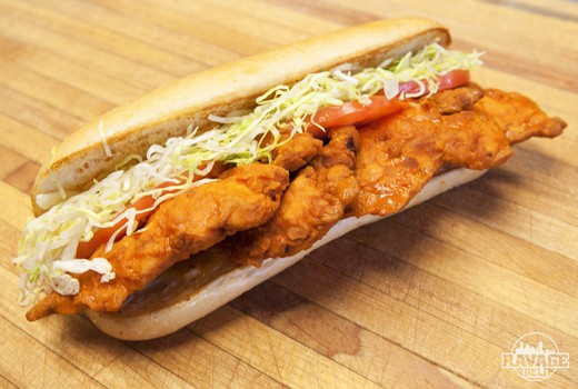 HEATher's Spicy Chicken Po' Boy